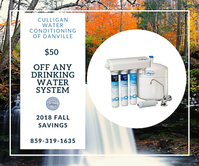 $50 Off Any Drinking Water System