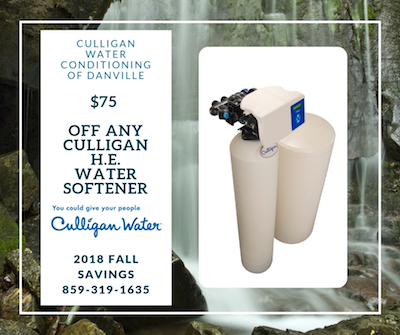 $75 Off Any Culligan H.E. Water Softener